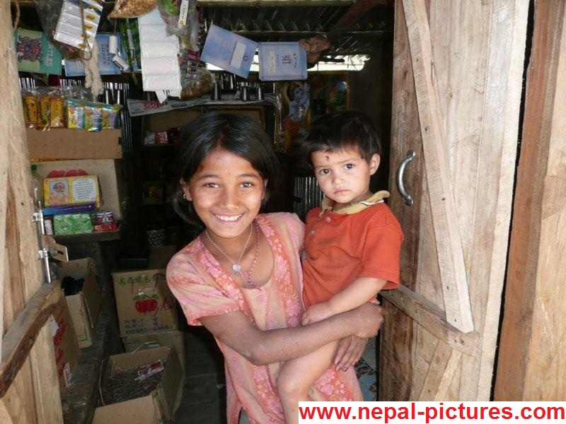 Gorkha girl with brother