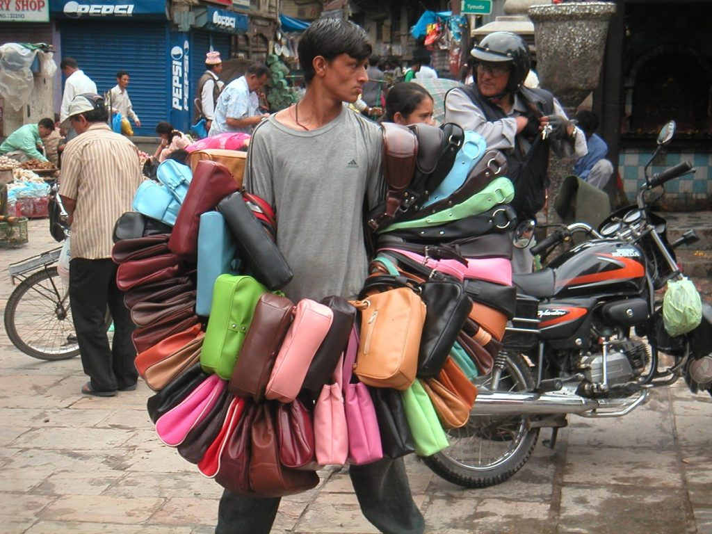 Selling bags Indra Chowk
